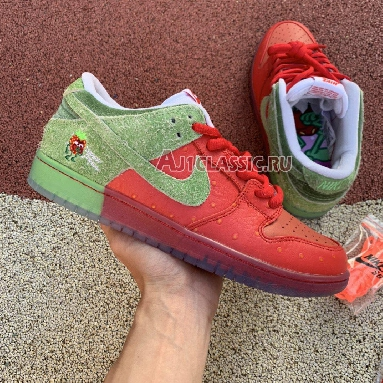 Nike SB Dunk Low Strawberry Cough CW7093-601 University Red/Spinach Green-Magic Ember Sneakers