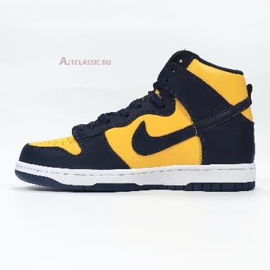 Nike Dunk High SP Retro Michigan 2020 CZ8149-700 Varsity Maize/Midnight Navy/Midnight Navy/Yellow Sneakers