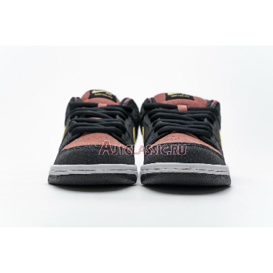 Nike Dunk Low Premium SB QS Walk Of Fame 504750-076 Black/Metallic Gold/Red Sneakers