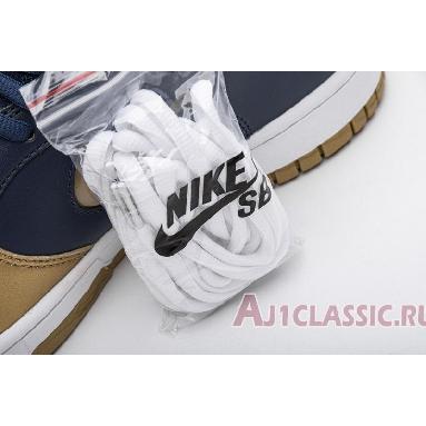 Supreme x Nike Dunk SB Low QS Metallic Gold CK3480-700 Metallic Gold/Metallic Gold/Navy/White Sneakers