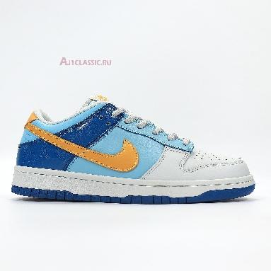 Nike Air Dunk Low GS Splash 309601-471 Splash/Yellow Ochre-Powder Blue-Dark Maroon Sneakers
