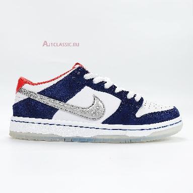 Nike SB Dunk Low Pro Ishod Wair QS 839685-416 Deep Royal Blue/Metallic Silver-University Red-Metallic Silver Sneakers