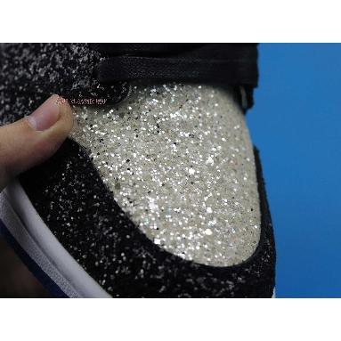 Surgeon Crafts fragment design x Air Jordan 1 Glitter CK5566-400 White/Black/Blue Sneakers