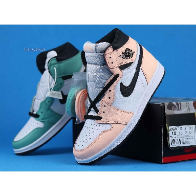 Air Jordan 1 Retro High OG WMNS Multi Color 555441-889 Green/Pink/White/Black Sneakers