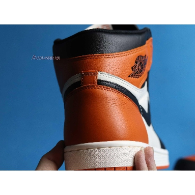 Air Jordan 1 Retro High OG Shattered Backboard 555088-005 Black/Starfish-Sail Sneakers