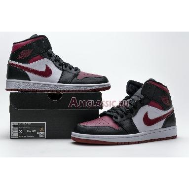 Air Jordan 1 Mid Noble Red 554724-066 Black/White/Noble Red Sneakers