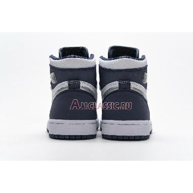 Air Jordan 1 Retro High co.JP Midnight Navy 2020 DC1788-100 White/Midnight Navy/Metallic Silver Sneakers