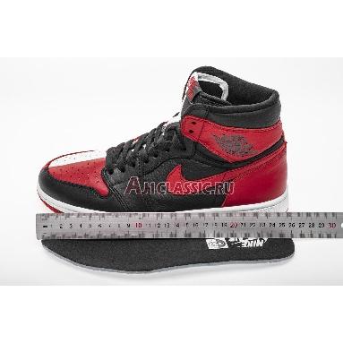 Air Jordan 1 Retro High OG NRG Homage to Home 861428-061 Black/White-University Red Sneakers