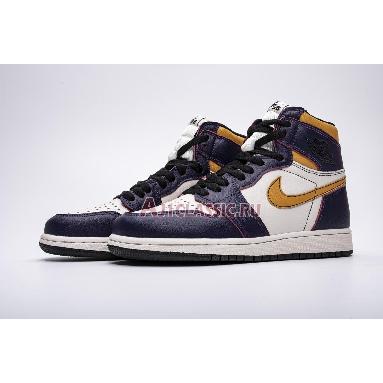 Air Jordan 1 Retro High SB LA To Chicago CD6578-507 Court Purple/Sail-University Gold-Black Sneakers