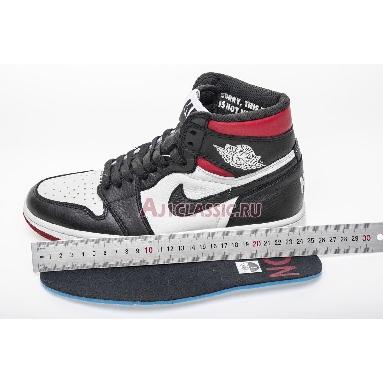 Air Jordan 1 Retro High OG NRG Not For Resale 861428-106 Sail/Black-Varsity Red Sneakers