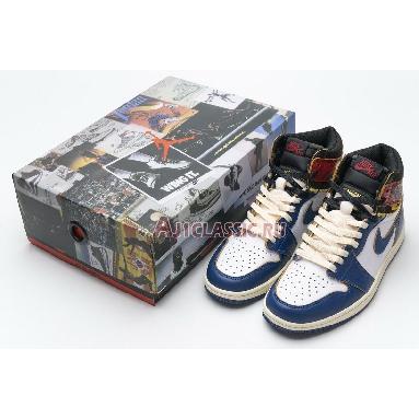 Union LA x Air Jordan 1 Retro High NRG Storm Blue BV1300-146 White/Storm Blue/Varsity Red/Black Sneakers