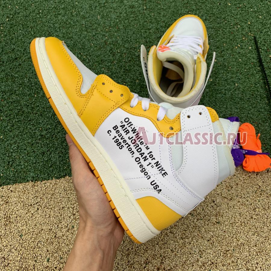 "Off-White x Air Jordan 1 Retro High OG ""Canary Yellow"" AQ0818-149"