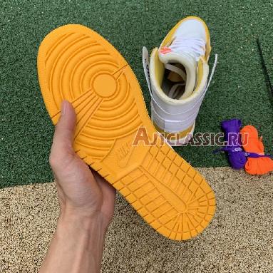 Off-White x Air Jordan 1 Retro High OG Canary Yellow AQ0818-149 White/Dark Powder Yellow/Cone Sneakers