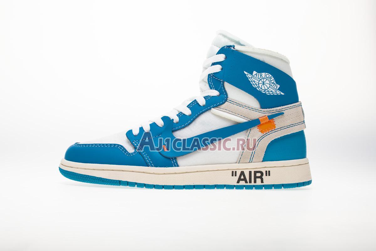 "Off-White x Air Jordan 1 Retro High OG ""UNC"" AQ0818-148-2"