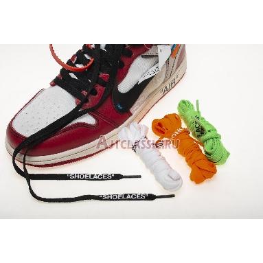 Off-White x Air Jordan 1 Retro High OG Chicago AA3834-101 White/Black-Varsity Red-Black Sneakers