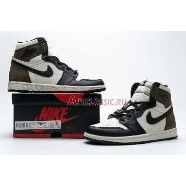 Air Jordan 1 Retro High OG Dark Mocha 555088-105 Sail/Dark Mocha-Black-Black Sneakers