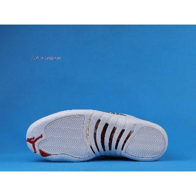 Air Jordan 12 Retro FIBA 130690-107 White/University Red-Metallic Gold Sneakers