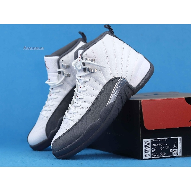 Air Jordan 12 Retro Dark Grey 130690-160 White/Dark Grey-Gym Red Sneakers