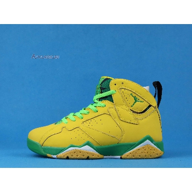 Air Jordan 7 Retro Oregon Ducks PE AT3375-300 Yellow Strike/Green Apple-Black-White Sneakers