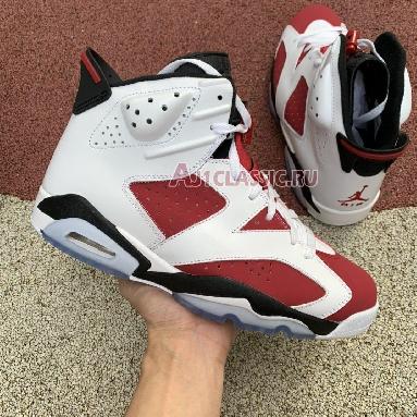 Air Jordan 6 Retro Carmine 2014 384664-160 White/Carmine-Black Sneakers