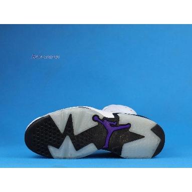 Air Jordan 6 Retro LTR Flint CI3125-100 White/Black-Infrared 23-Dark Concord Sneakers