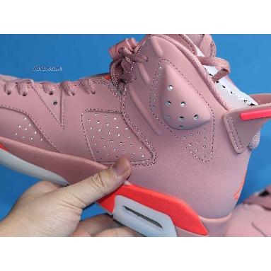 Aleali May x Air Jordan 6 Millennial Pink CI0550-600 Rust Pink/Bright Crimson Sneakers