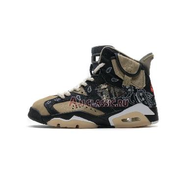 Travis Scott x Air Jordan 6 Cactus Jack CT5058-001 Black/Parachute Beige/Petra Brown Sneakers
