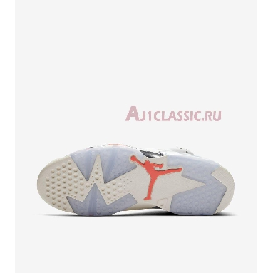 Air Jordan 6 Retro Tinker 384664-104 White/Infrared 23-Neutral Grey-White-Sail Sneakers