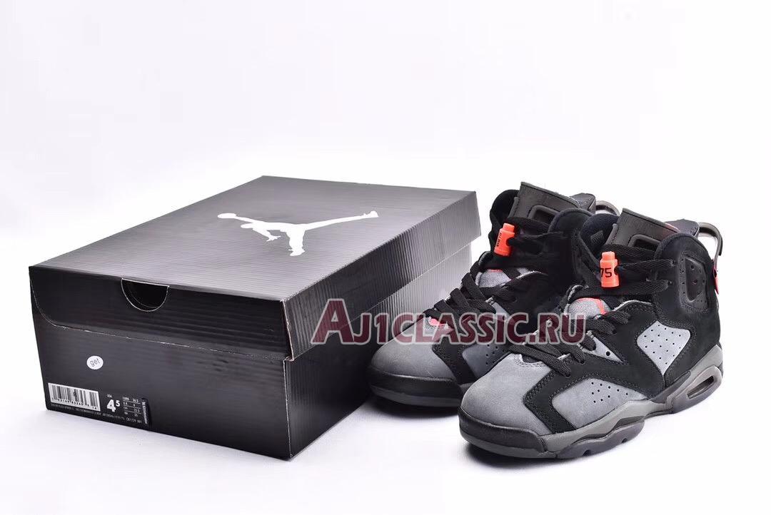 """Paris Saint-Germain x Air Jordan 6 Retro """"Iron Grey"""" CK1229-001"""