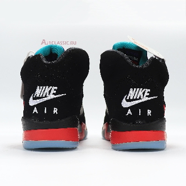 Air Jordan 5 Retro Top 3 CZ1786-001 Black/Fire Red/Grape Ice/New Emerald Sneakers