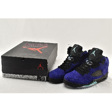 Air Jordan 5 Retro Alternate Grape 136027-500 Grape Ice/Black/Clear/New Emerald Sneakers