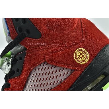 Air Jordan 5 Retro SE What The CZ5725-700 Varsity Maize/Court Purple/Ghost Green/Solar Orange Sneakers