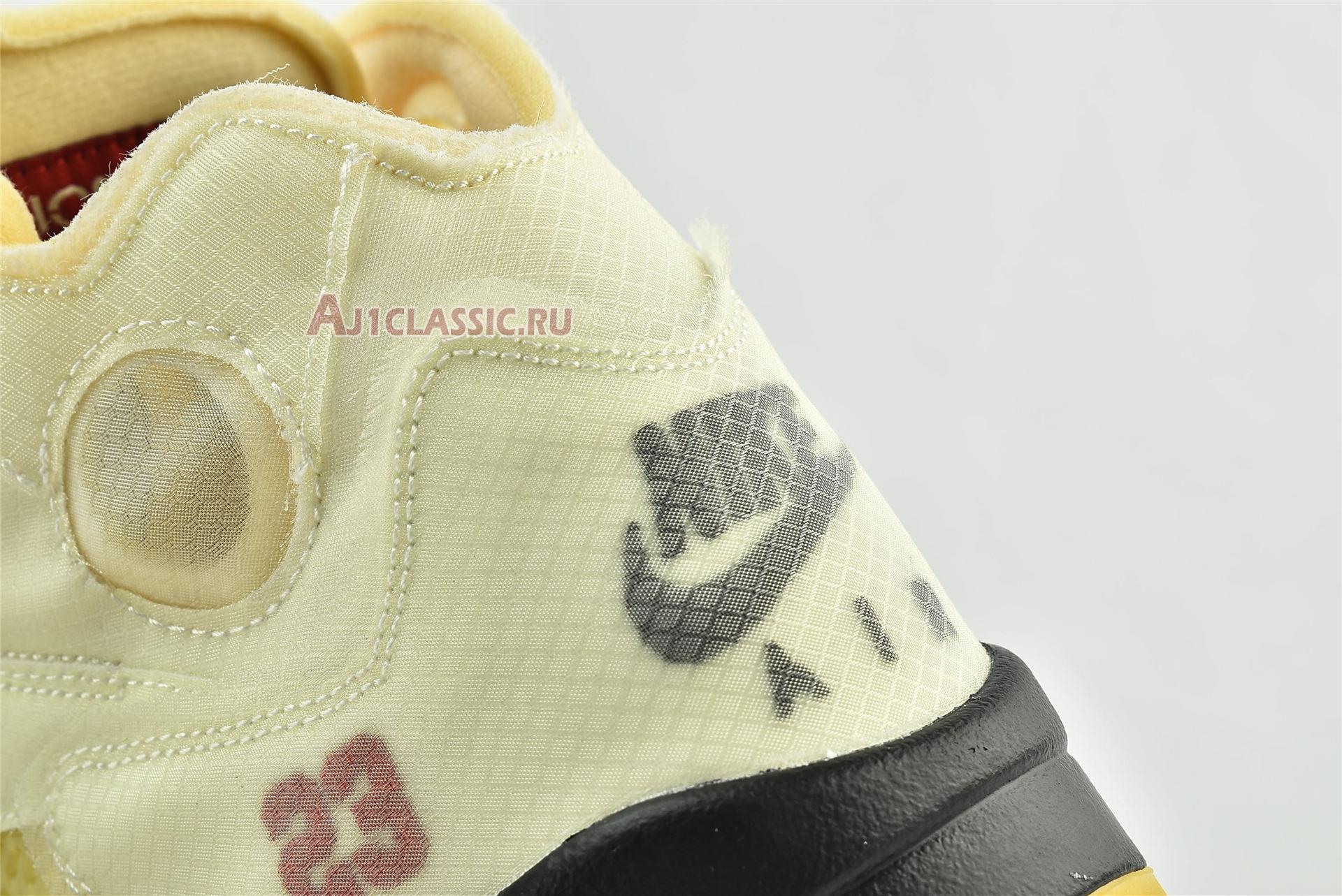 """Off-White x Air Jordan 5 SP """"Sail"""" DH8565-100"""