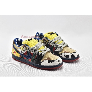 Nike Dunk Low SB What The Dunk 2020 318403-175 White/College Blue-Yellow Red Sneakers
