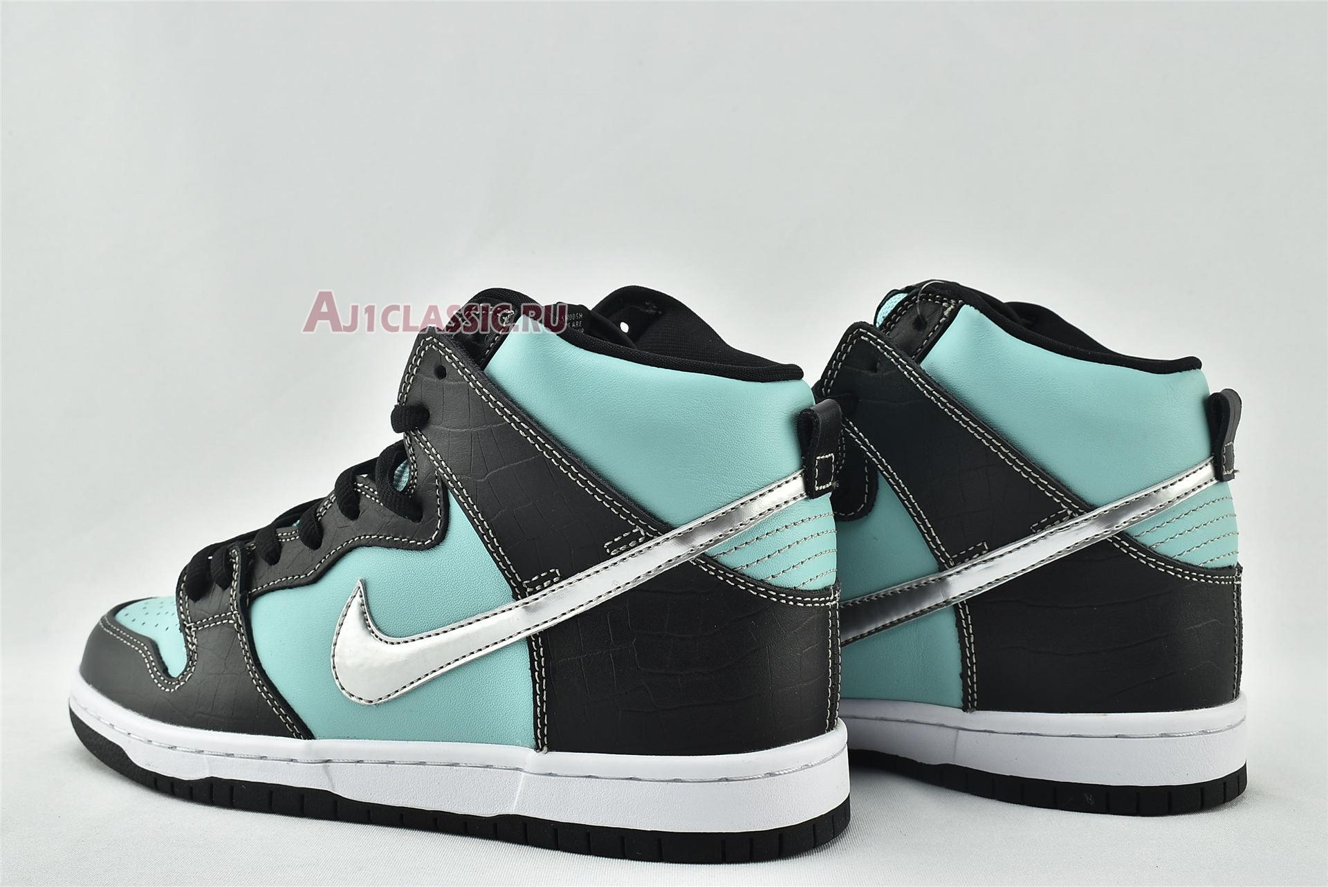 "Diamond Supply Co x Nike Dunk High Premium SB ""Tiffany"" 653599-400"