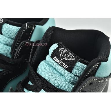 Diamond Supply Co x Nike Dunk High Premium SB Tiffany 653599-400 Aqua/Chrome-Black Sneakers