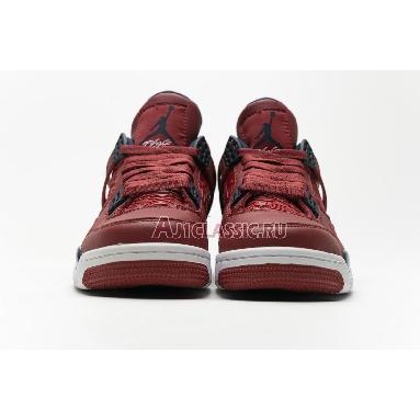 Air Jordan 4 Retro FIBA CI1184-617 Gym Red/White-Metallic Gold-Obsidian Sneakers