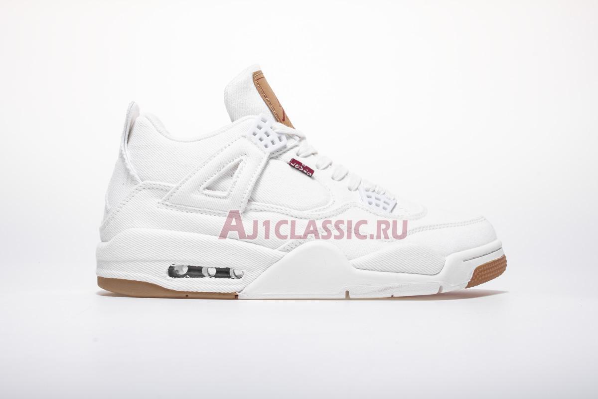 "Levis x Air Jordan 4 Retro ""White Denim"" AO2571-100"