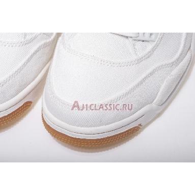 Levis x Air Jordan 4 Retro White Denim AO2571-100 White/White-White Sneakers