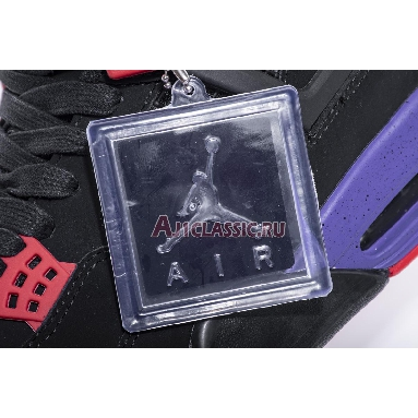 Air Jordan 4 Retro NRG Raptors AQ3816-065-2 Black/University Red-Court Purple Sneakers