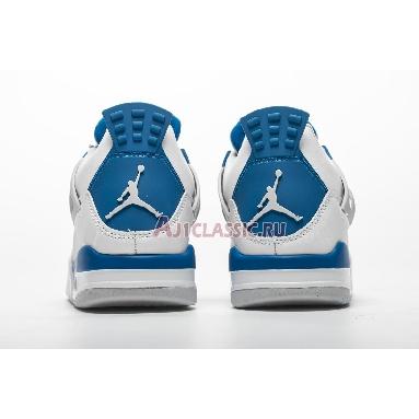 Air Jordan 4 Retro Military Blue 2012 308497-105 White/Military Blue-Ntrl Grey Sneakers