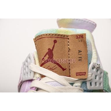 Levis x Air Jordan 4 Retro Multi-Color AO2571-102 Pink/Green/Blue/Multi-Color Sneakers