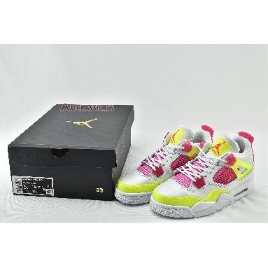 Air Jordan 4 Retro Lemon Venom CV7808-100 White/Lemon Venom/Pink Blast Sneakers