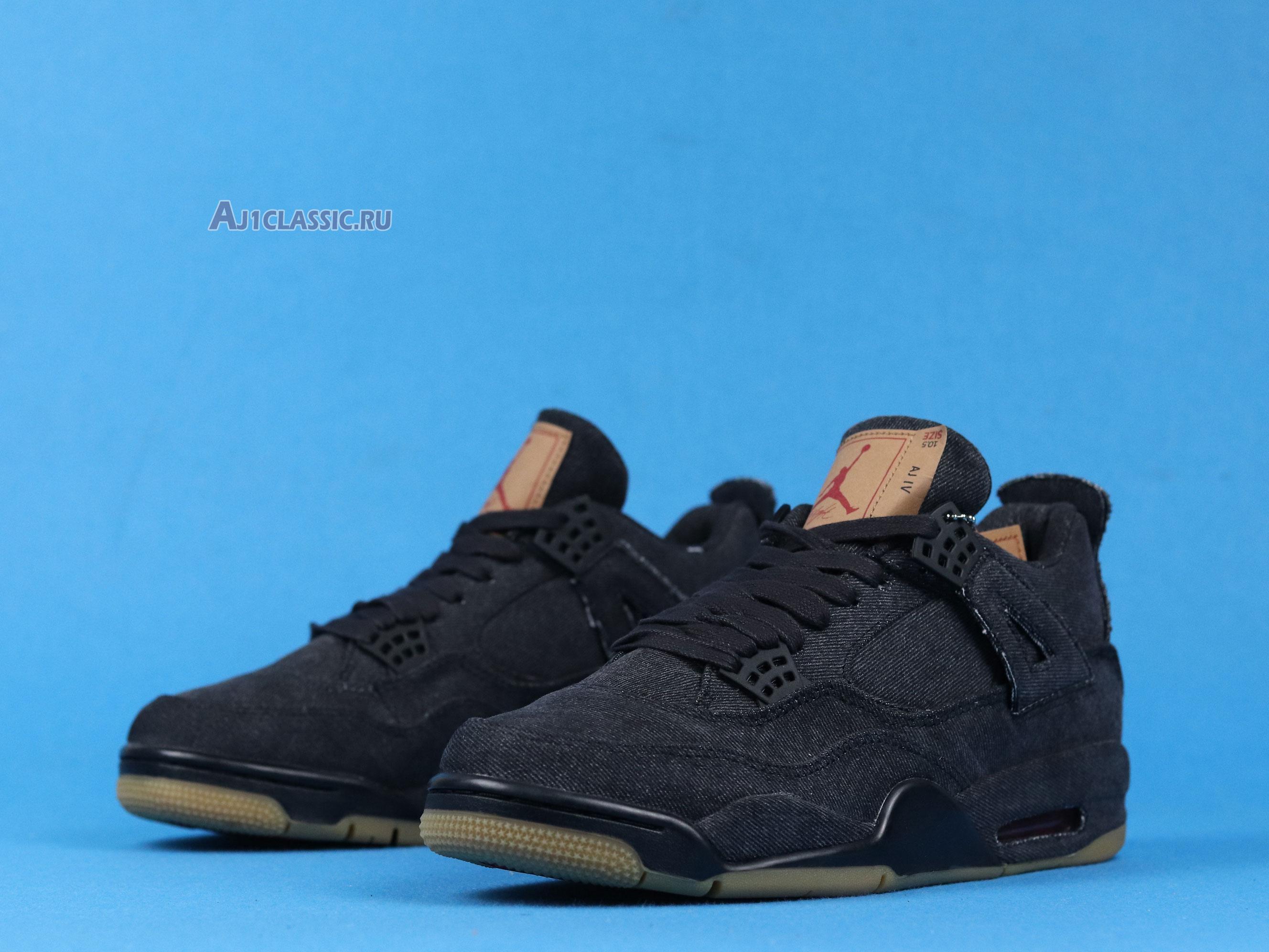 "Levis x Air Jordan 4 Retro ""Black Denim"" AO2571-001"