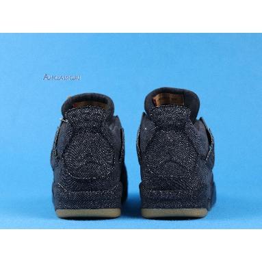 Levis x Air Jordan 4 Retro Black Denim AO2571-001 Black/Black/Black Sneakers
