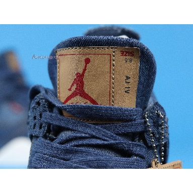 Levis x Air Jordan 4 Retro Denim AO2571-401 Denim/Denim-Sail-Game Red Sneakers