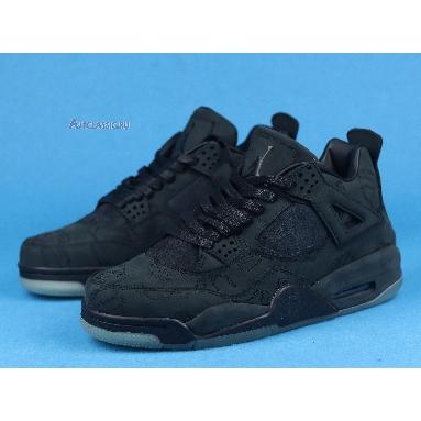 KAWS x Air Jordan 4 Retro Black 930155-001 Black/Black-Clear Glow Sneakers