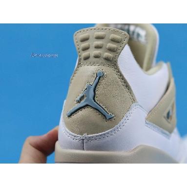 Air Jordan 4 Retro Linen 487724-118 White/Boarder Blue-Light Sand Sneakers