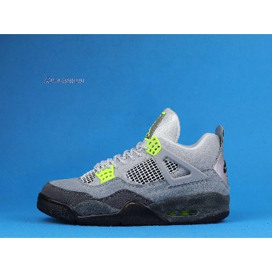 Air Jordan 4 Retro SE Neon 95 CT5342-007 Cool Grey/Volt/Wolf Grey/Anthracite Sneakers