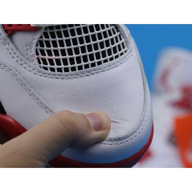 Air Jordan 4 Retro OG Fire Red 2020 DC7770-160 White/Black/Tech Grey/Fire Red Sneakers